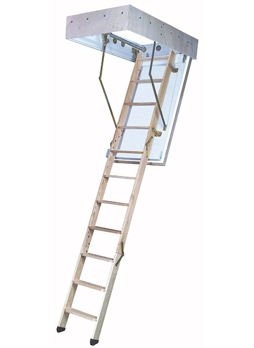 Bodentreppe F30 mit Holzluke und Holzleiter