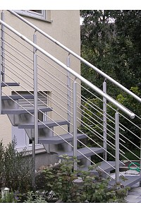 Mittelholmtreppe Ökostep 260 mit AluTop-Geländer