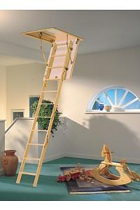 Bodentreppe Mini mit 4-teiliger Holzleiter