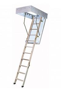 Bodentreppe F90 mit Holzluke und Holzleiter