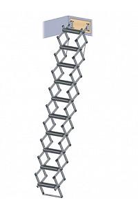 Scherentreppe Aluminium mit Stirnbrett