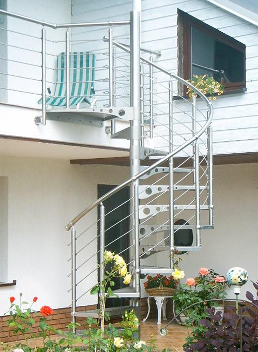 Extrem Edelstahl-Spindeltreppe Rondostep - GS Treppen Shop LE92