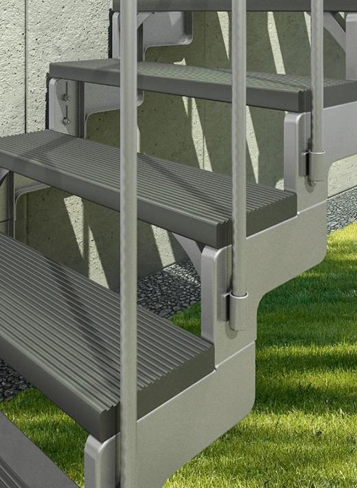 mittelholmtreppe gardenstep gs treppen shop. Black Bedroom Furniture Sets. Home Design Ideas