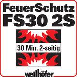 Feuerschutz F30 zweiseitig von oben und unten