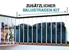 Mittelholmtreppe Karina Brüstungsgeländer Kit