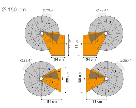 Planung Spindeltreppe Oak 70 mit Ø 150 cm