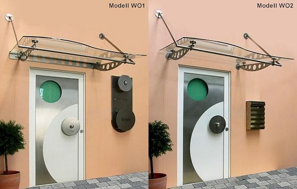 Vordach Optoline - Modelle WO1 & WO2