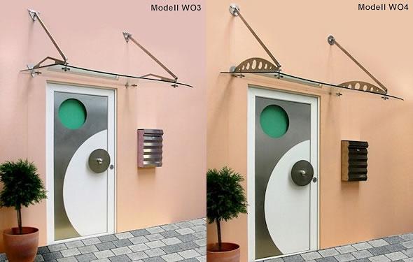 Vordach Optoline - Modelle WO3 & WO4