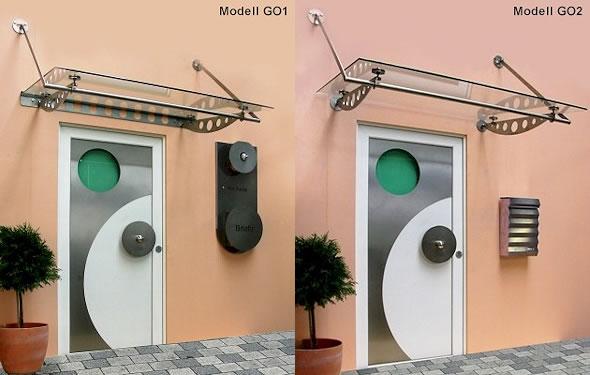 Vordach Optoline - Modelle GO1 & GO2