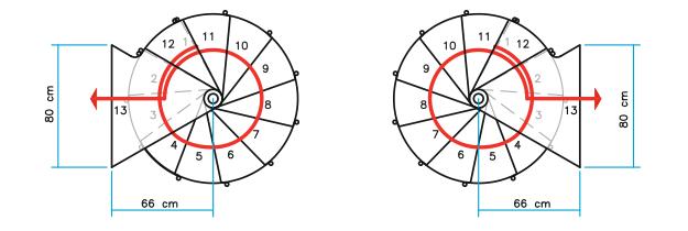 Grundrisse Spindeltreppe Ring Ø 118 cm