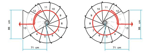 Grundrisse Spindeltreppe Ring Ø 128 cm