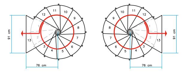 Grundrisse Spindeltreppe Ring Ø 138 cm