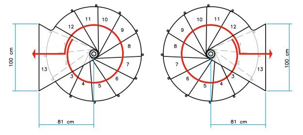 Grundrisse Spindeltreppe Ring Ø 148 cm