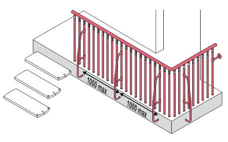 Brüstungsgeländer Montage Mittelholmtreppe Venus02