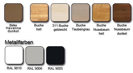 Holzfarben und Metallfarbe Mittelholmtreppe Zen